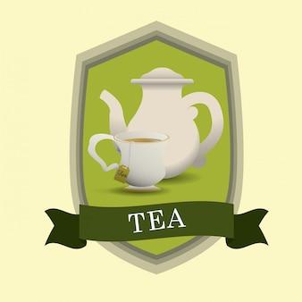 Projekt znaczka na herbatę
