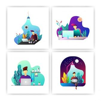 Projektant ilustracji wektorowych