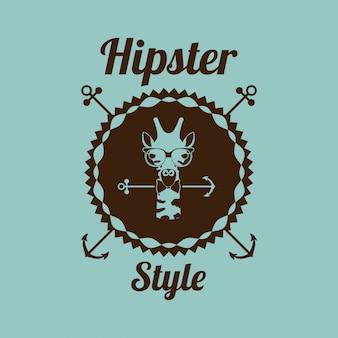 Projektowanie hipster zwierząt
