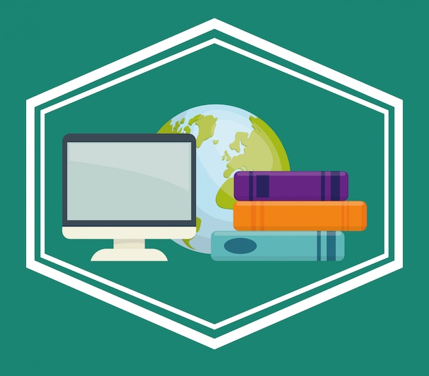 Projektowanie ikon książek i e-learningu