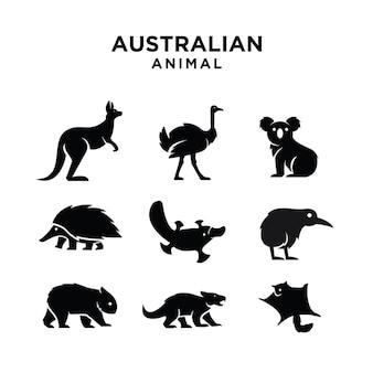 Projektowanie ikon logo australijskich zwierząt