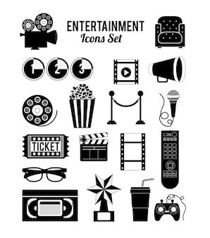 Projektowanie ikon rozrywki