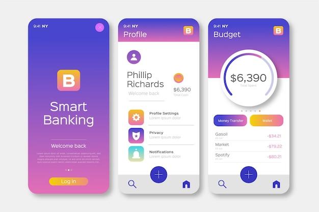 Projektowanie interfejsu aplikacji bankowej