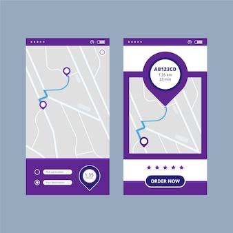 Projektowanie interfejsu aplikacji taxi