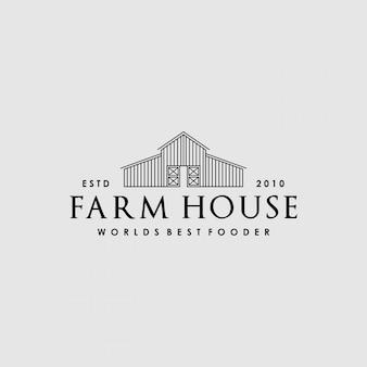 Projektowanie kreatywnych logo vintage farm house