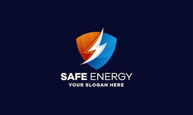 Projektowanie logo bezpiecznego gradientu energii