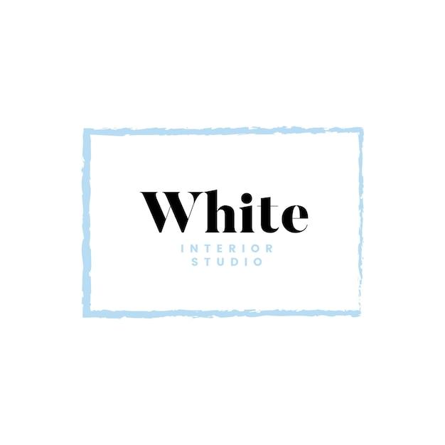 Projektowanie logo białego wnętrza studia