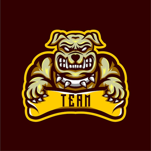 Projektowanie logo bulldog esports