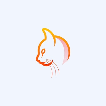 Projektowanie logo cat line premium