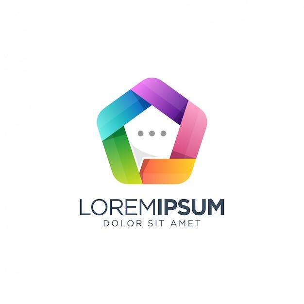 Projektowanie logo czatu