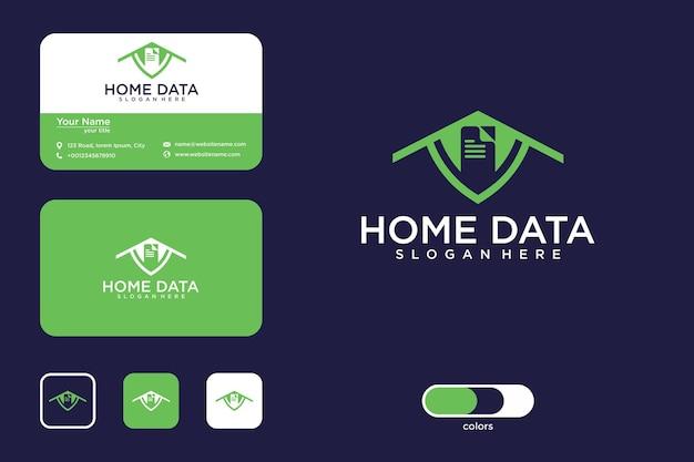 Projektowanie logo danych domowych i wizytówka