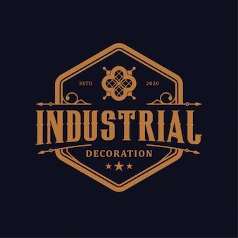 Projektowanie logo dekoracyjne dekoracyjne luksusowe
