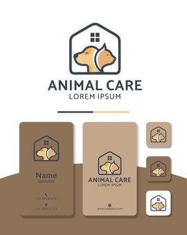 Projektowanie logo dla kotów i psów opieki nad zwierzętami dom zdrowie szpital sklep zoologiczny