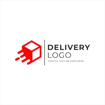 Projektowanie logo dostawy pudełka.