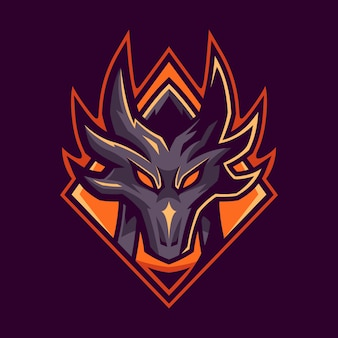 Projektowanie logo dragon esport gaming
