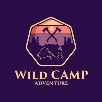 Projektowanie logo dzikiego obozu