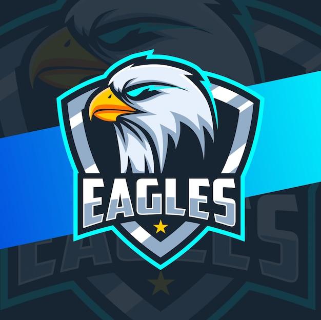 Projektowanie logo e-mail maskotka głowa orła