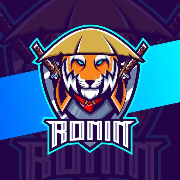 Projektowanie logo e-mail maskotka tygrys samuraj