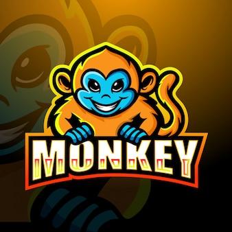 Projektowanie logo e-sport maskotka małpa