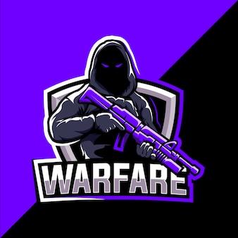 Projektowanie logo e-sport maskotka warfare