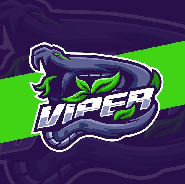 Projektowanie logo e-sport maskotka węża viper