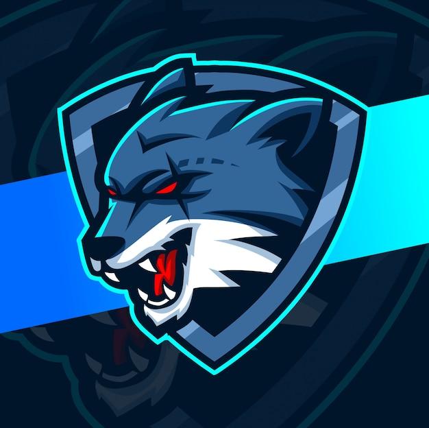 Projektowanie logo e-sport maskotka wilki