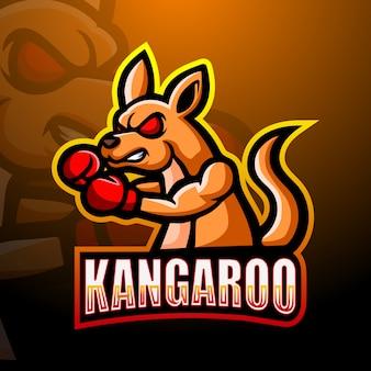 Projektowanie logo e-sportowych maskotka bokser kangur