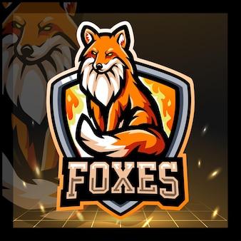 Projektowanie logo e-sportu maskotki fox