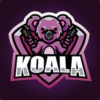Projektowanie logo e-sportu maskotki koala