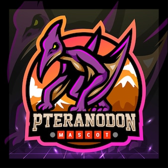 Projektowanie logo e-sportu maskotki pteranodona