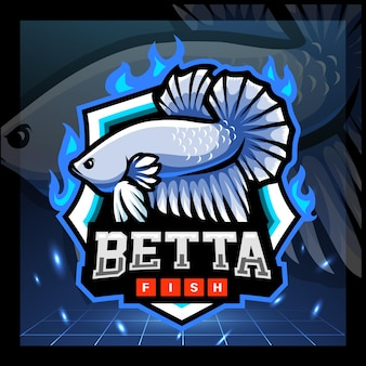 Projektowanie logo e-sportu maskotki ryb betta