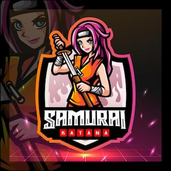 Projektowanie logo e-sportu maskotki samurajów