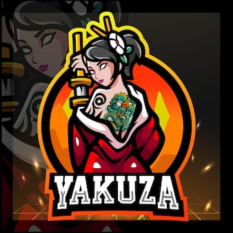 Projektowanie logo e-sportu maskotki yakuza dla dziewcząt