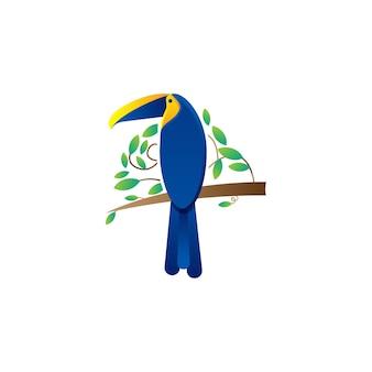 Projektowanie logo egzotycznych liści ptaków