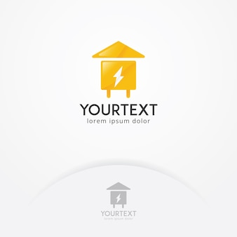 Projektowanie logo energii w domu