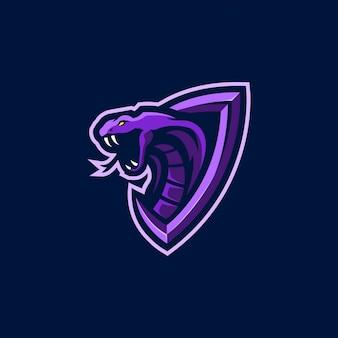 Projektowanie logo esport głowy kobry królewskiej