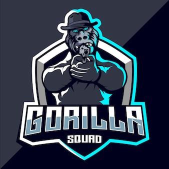 Projektowanie logo esport gorilla squad