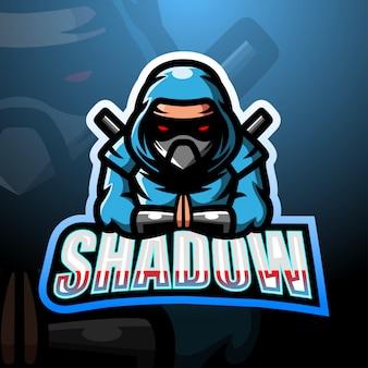 Projektowanie logo esport maskotka cień