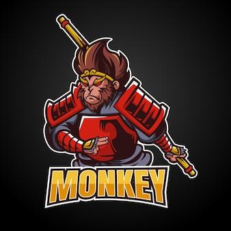 Projektowanie logo esport maskotka małpa