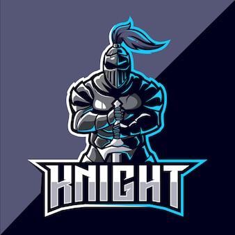 Projektowanie logo esport maskotka rycerza