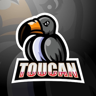 Projektowanie logo esport maskotka tukan