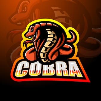 Projektowanie logo esport maskotki cobra