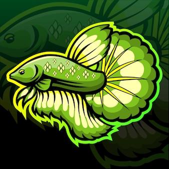 Projektowanie logo esport maskotki ryb betta