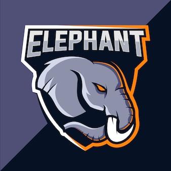 Projektowanie logo esport maskotki słonia