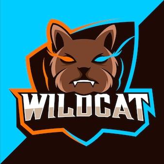 Projektowanie logo esport maskotki wildcats