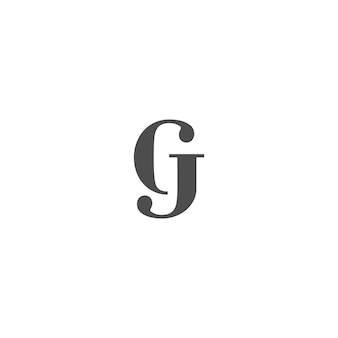 Projektowanie logo gj lub cj