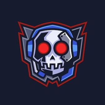 Projektowanie logo godła czaszki do gier