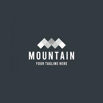 Projektowanie logo górskiej kreatywnej geometrii