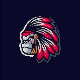 Projektowanie logo goryla apache