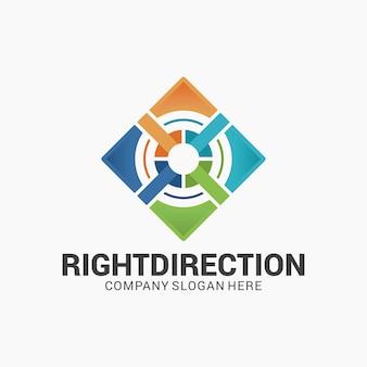 Projektowanie logo gradient direction